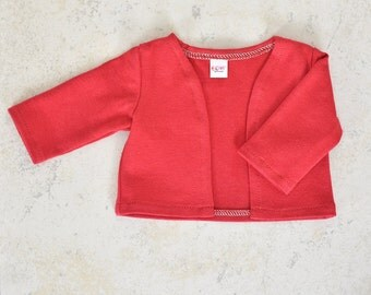 18 inch doll cardigan Red color