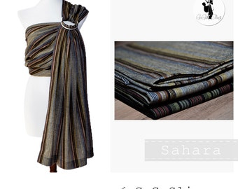Baby ring sling, Baby carrier, Baby wrap, Sling, Ring sling, GuGaSling Sahara, Cotton, Old shcool, Gift bag