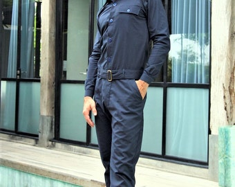 Jumpsuit for Men, Designer Jumpsuit, Navy Blue Jumpsuit, Fashion for Men, Unique Fashion, Fashion from Berlin,