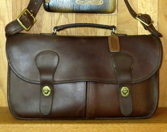 Coach Musette Mocha Leather Made In New York City At The Factory - Fancied By Models, Dancers- VGC