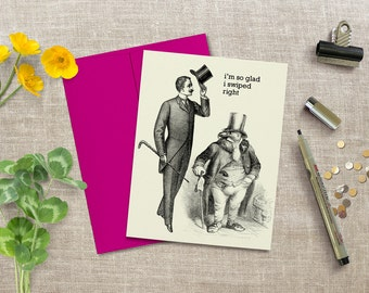 Tinder card, anniversary card, funny card, card for boyfriend, LGBT card, gay card, blank inside, tindr, greeting card