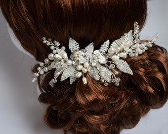 Wedding hair comb, Bridal hair comb, Pearl Hair Comb, Bridal Hair Comb, Bridal Hair Piece, Pearl Hair piece, Wedding Hair Piece