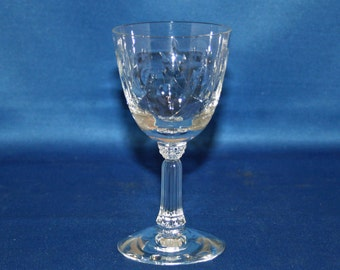 Vintage Spinet Sherry Glass by Fostoria circa 1950's cordial glass cut pattern 821
