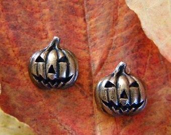 Bronze Jack o' Lantern Earrings