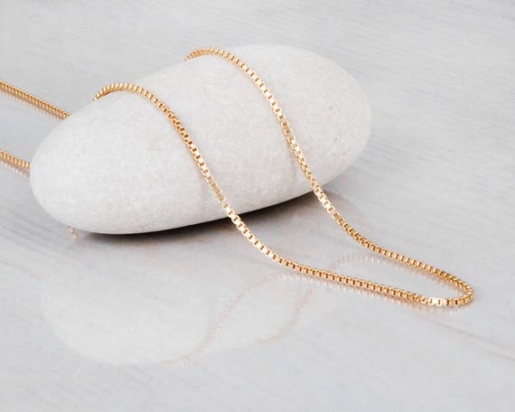 Gold chain necklace simple gold necklace gold filled like this item aloadofball Image collections