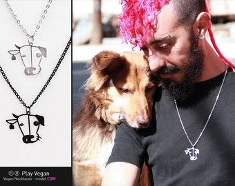 Vegan Necklace - Cow