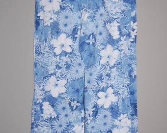 Vintage Blue Floral Jeans