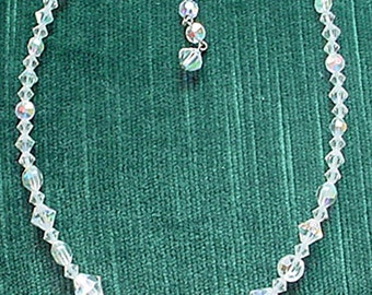 Carnival Glass Crystal Necklace