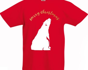 Kids Merry Christmas Polar Bear Christmas Jumper girls / boys