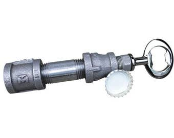 Bottle Opener - Black Iron Pipe - Gun Metal