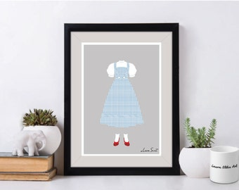 The Wizard Of Oz Dorothy Poster/Print - minimalist dorothy the wizard of oz poster art decor