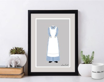 Disney Mary Poppins Pinstripe Outfit Poster/Print - minimalist mary poppins chimney sweep nanny poster art decor