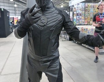 Zoom Costume / Cosplay Replica (DC's CW The Flash), in Leather, Mesh and Stretch Materials