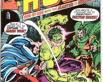 The Incredible Hulk 210 comic, Bronze Age book, Smash, Dr. Druid, Herb Trimpe art. 1977 Marvel Comics in VF/NM (9.0)