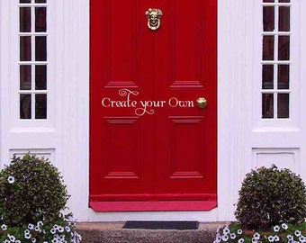 Door stickers etsy for Design your own front door