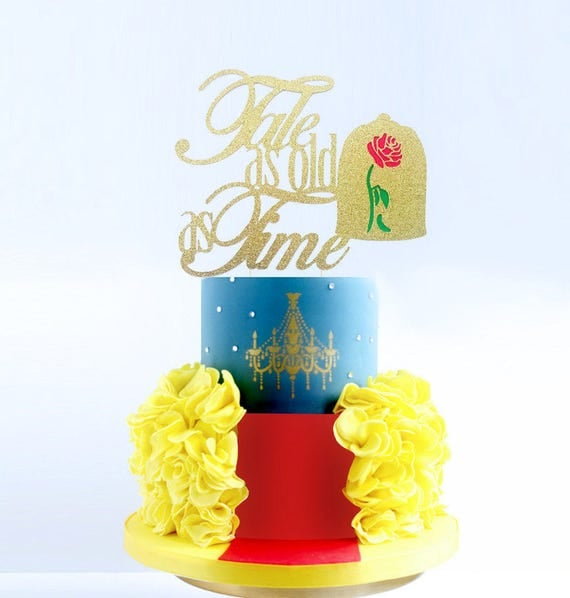 Beauty and the Beast Cake Topper Tale As Old as Time Cake
