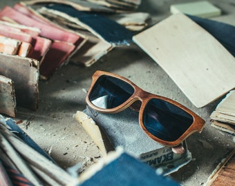 Gift Idea, Rosewood Wayfarer Sunglasses, Polarized Wooden Sunglasses | Gift for him | Gift for her