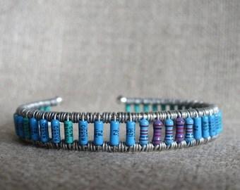 Multi-colored Resistor Cuff Bracelet