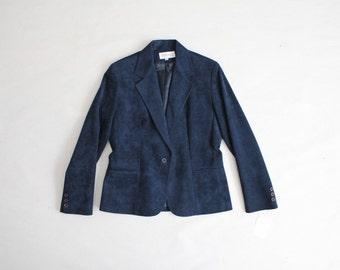 ultra suede blazer | navy blue blazer | ultrasuede blazer