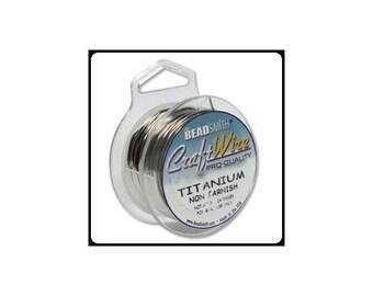 28 Gauge Titanium Wire by Beadsmith Craft Wire (15 Yard Spool)