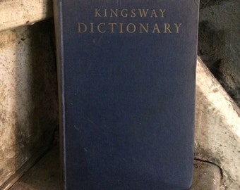Vintage Kingsway Childrens School Dictionary with Pictures - Old Book - Vintage Library.