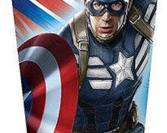 Captain America ''Winter Soldier'' Paper Cups 8ct