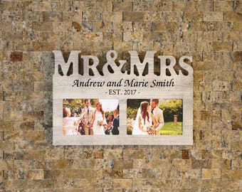 6 letter frame etsy photo frame mr mrs reverse cutout letters personalized laser spiritdancerdesigns Gallery