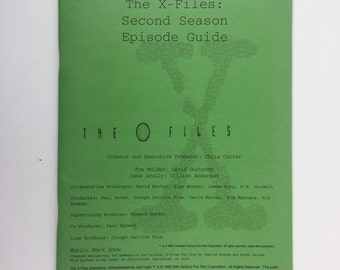 X Files Fan Club Magazine, Episode Guide, Second Season, Vintage Fan Magazine, UFO 101, X-Files Book, Season One Guide, Truth is Out There