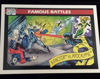 X-Factor vs. Apocalypse #117 - 1990 Marvel Universe Series 1 Base Trading Card