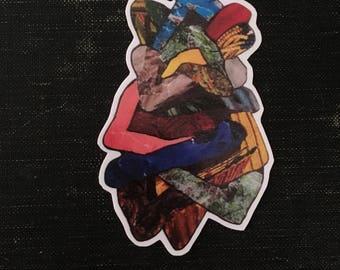 Collage sticker - vinyl sticker