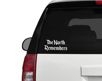 Game of Thrones Car Decal Sticker The North Remmbers TShirt - Winter is coming