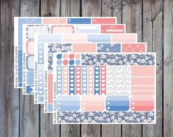 Planner Sticker Kit - Blue Blossom [626]