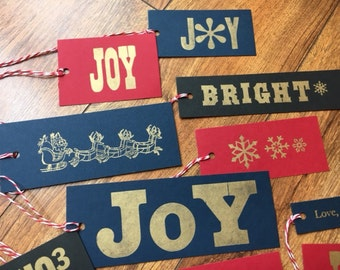 Letterpress Holiday Gift Tags