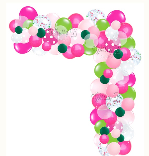 diy balloon garland kit in hot pink and lime green makes a. Black Bedroom Furniture Sets. Home Design Ideas