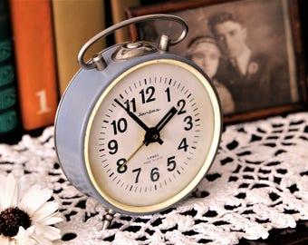 Vintage Alarm Clock - Alarm Clock Jantar - Retro Alarm Clock - Soviet Alarm Clock - Desk Clock - Russian Clock - Mechanical Clock