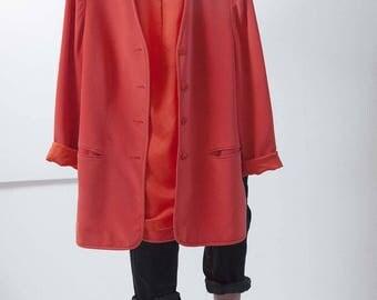 The silk red blazer – Size 36/38
