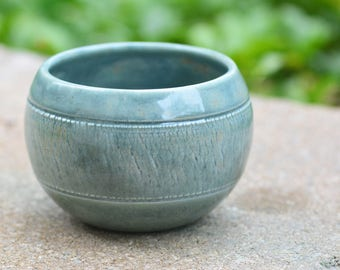 Green/Blue Planter // Handmade by Jackson Fyfe // One of a Kind, Great for Wedding Gift, Succulent Planter
