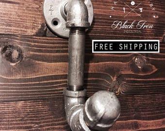 Industrial Coat Hook, Pipe Coat Hook, Coat Hook, Black Iron Industrial Coat Hook, Coat Hanger, Towel Hook, Hat Hook
