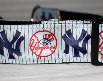 "New York Yankees  1.5"" Collar with Side Release Buckle (Martingale Option)"