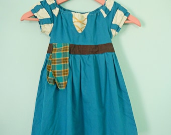 Merida dress - Brave - Merida costume - princess dress - cotton play dress