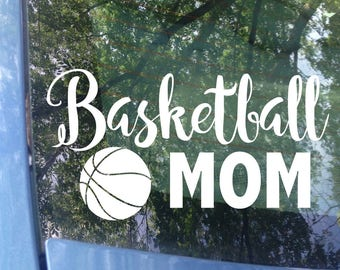 Basketball Mom Decal - Sports Mom - Basketball Mom Window Decal - Basketball Mom Car Decal - Sports Mom Decal - Sports Decal - Hoops Mom