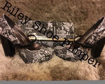 Heartbreak Hotel Elvis Heels (bag sold separately)