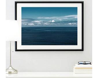 Santa Monica Ocean | home decor | pacific ocean photo | sea water photo | wall decor | ocean photography | water photo | 11 sizes