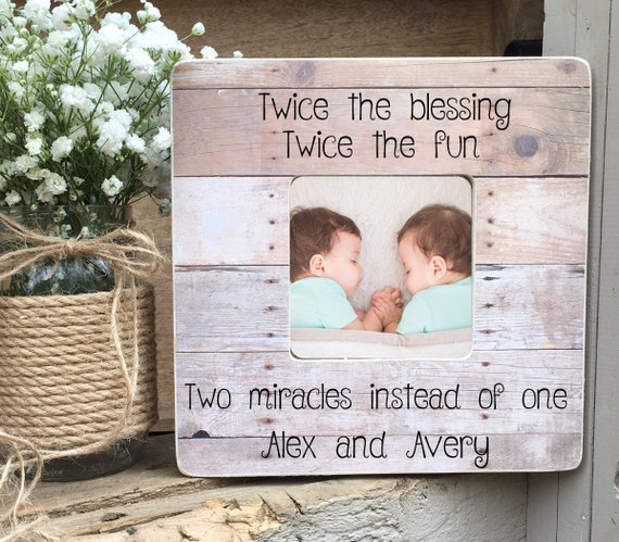 ON SALE Twins Picture Frame Twin Gift Twin Girls Twin Boys