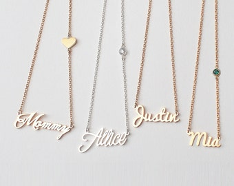 Custom Name Necklace / Name Jewelry / Children Names Necklace / Personalized Name Necklace / Bridesmaid gift HN01C