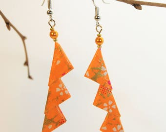 """Triangles Clémentine"" origami earrings"