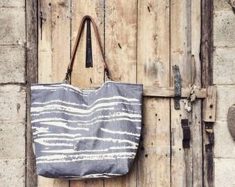 Linen Market bag - Forest