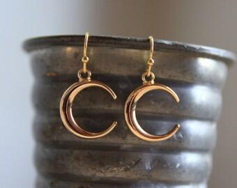 Gold Moon Earrings