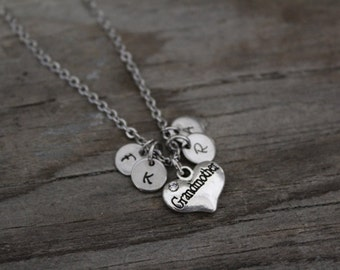 Grandmother Necklace - Initial Necklace - Grandmother Gift - Grandmother Jewelry - Initials