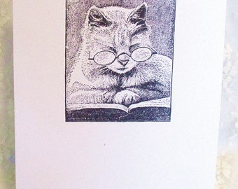 Cat Card: Add a Greeting or Leave Blank